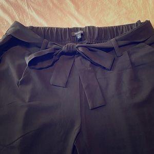 Torrid Front tie challis pants size 1X in black